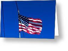 The Flag Of Usa  Greeting Card