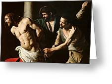 The Flagellation Of Christ Greeting Card by Caravaggio