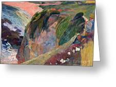 The Flageolet Player On The Cliff Greeting Card