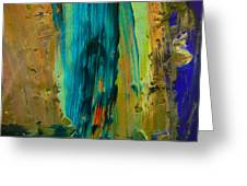 The Flair Of The Flame Abstract Greeting Card