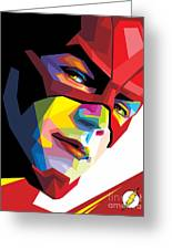 The Flash Colorful Pop Art Greeting Card