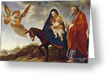 The Flight Into Egypt Greeting Card