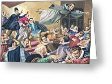 The Flight Of Father Dominic Greeting Card