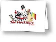 The Flockstars Greeting Card by Sarah Rosedahl