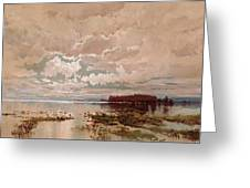 The Flood In The Darling 1890 Greeting Card