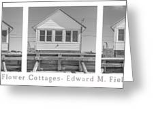 The Flower Cottages Trio Poster Greeting Card