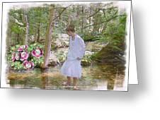 The Flowering Brook Greeting Card