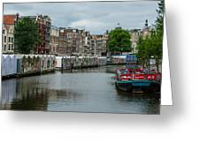 The Flowermarket Canal Greeting Card