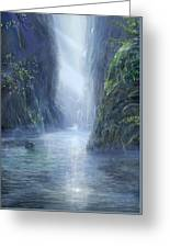 The Flowing Of Time Greeting Card