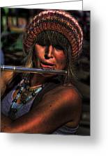 The Flutist Greeting Card