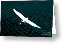 The Flying Egret Greeting Card