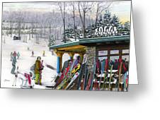 The Foggy Goggle At Seven Springs Greeting Card