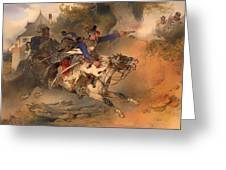 The Foraging Hussar 1840 Greeting Card