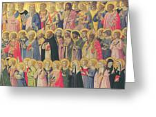 The Forerunners Of Christ With Saints And Martyrs Greeting Card