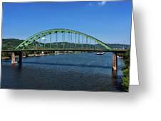 The Fort Henry Bridge - Wheeling West Virginia Greeting Card