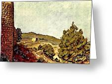The Fort In Lorca Greeting Card