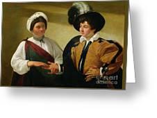 The Fortune Teller Greeting Card by Michelangelo Merisi da Caravaggio