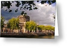 The Four Courts In Reconstruction Greeting Card