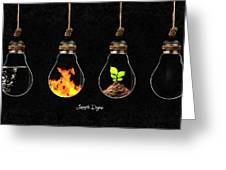 The Four Elements Greeting Card