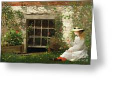 The Four Leaf Clover Greeting Card by Winslow Homer
