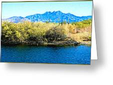 The Four Peaks From Saguaro Lake Greeting Card