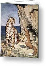 The Fox And The Leopard Greeting Card