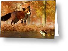 The Fox And The Turtle Greeting Card