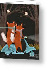 The Fox Mobile Greeting Card