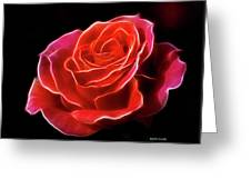 The Fractalius Rose Greeting Card