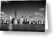 The Freedom Tower And The Lower Manhattan Skyline Greeting Card