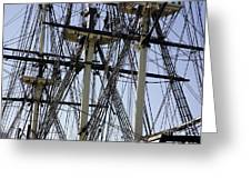 The Friendship Of Salem Tall Ship  In Salem Massachusetts Usa Greeting Card
