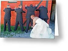 The Frisky Bride Greeting Card
