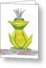 The Frog King Greeting Card