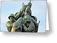The Front Up Close -- The Iwo Jima Monument Greeting Card