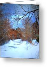 The Frozen Creek Greeting Card