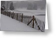 The Frozen Lake Greeting Card