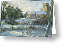The Frozen Moat - Bedfield Greeting Card