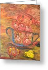 The Fruit Bowl In Evening Glow Greeting Card