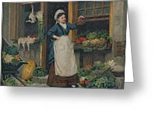 The Fruit Seller Greeting Card by Victor Gabriel Gilbert