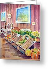 The Fruit Stand Greeting Card by Bobbi Price