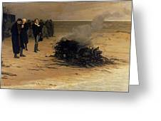The Funeral Of Shelley Greeting Card