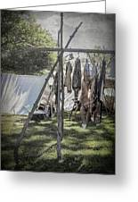 The Fur Trader's Camp 1812 Greeting Card