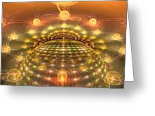 The Galactic Mirror Ball Greeting Card