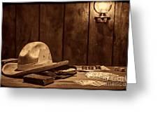The Gambler Hat Greeting Card