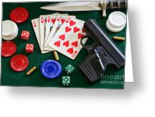 The Gambler Greeting Card by Paul Ward