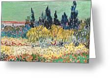 The Garden At Arles  Greeting Card
