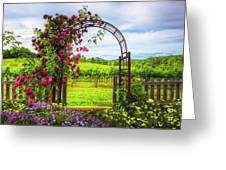 The Garden At The Winery Greeting Card