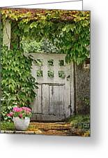 The Garden Door - V Greeting Card