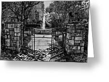 The Garden Gate Greeting Card