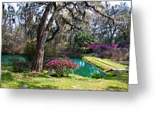 The Garden In The Abbey Greeting Card